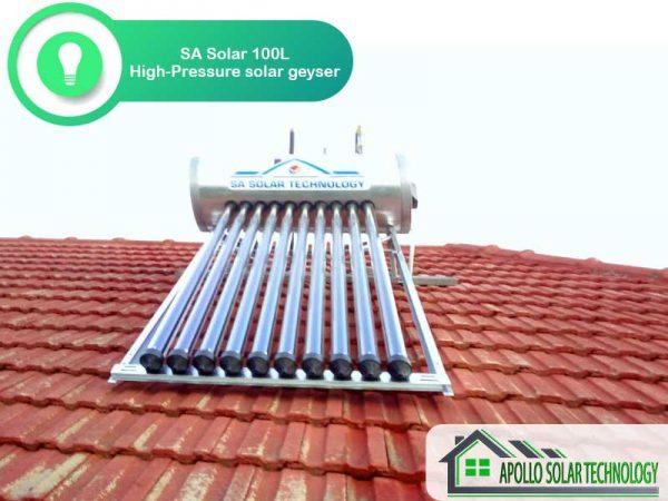 100L SA Solar High Pressure Solar Geyser