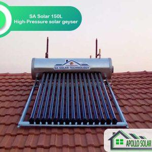 SA Solar 150L High-Pressure Solar Geyser