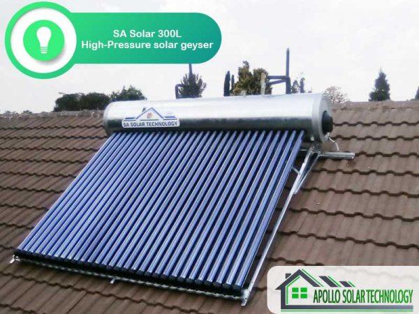 SA Solar 300L High-Pressure Solar Geyser