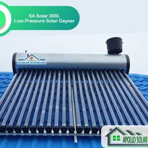 SA Solar 300L Low-Pressure Solar Geyser