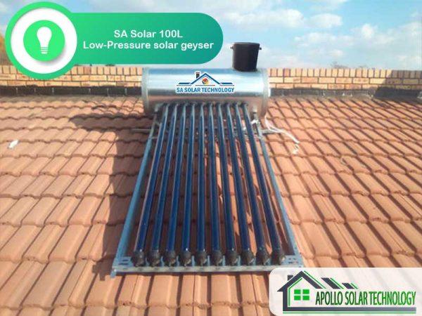 SA Solar 100L Low-Pressure Solar Geyser