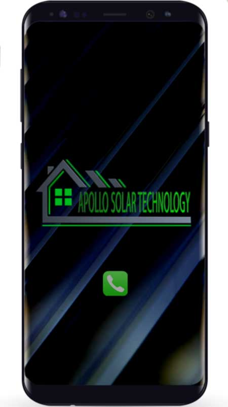Smartphone Contact SA solar Technology
