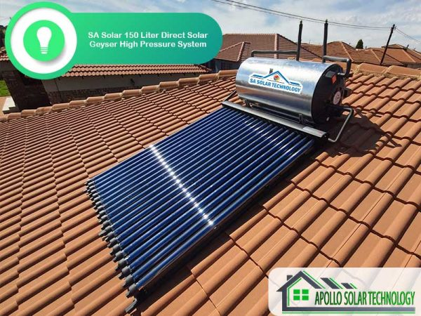SA Solar 150 Liter Direct Solar Geyser