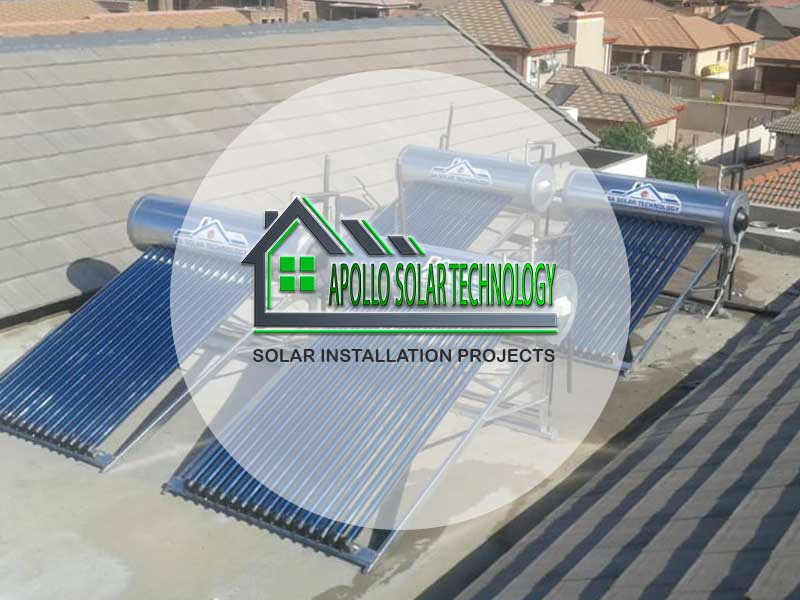 Large Apollo Solar Technology Solar Geyser Installation Projects